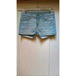 7 For All Mankind Super Flare Shorts